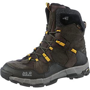 Jack Wolfskin Yukon Valley Texapore Winterschuhe Herren schwarz/gelb