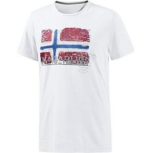 Napapijri Sollas Printshirt Herren weiß