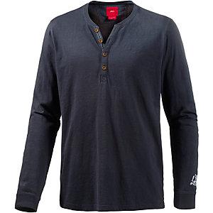 s oliver langarmshirt herren dunkelblau im online shop von. Black Bedroom Furniture Sets. Home Design Ideas