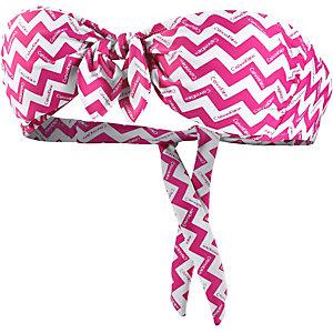 Calvin Klein Chevron Bikini Oberteil Damen pink/weiß