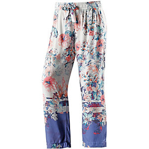 Short Stories Printhose Damen royalblau/weiß/rosé