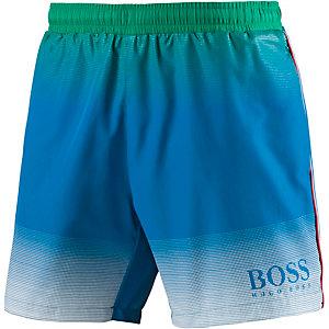 Boss Footballfish Badeshorts Herren blau