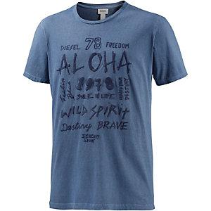 DIESEL Parsen Printshirt Herren graublau