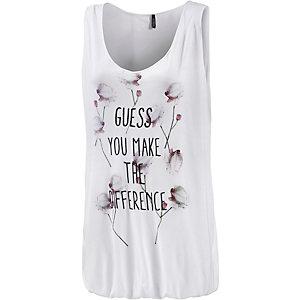 GUESS Oversize Shirt Damen weiß