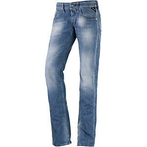 REPLAY Newswenfani Straight Fit Jeans Damen used blue denim