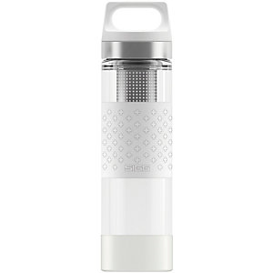 SIGG Hot & Cold Glass Trinkflasche weiß