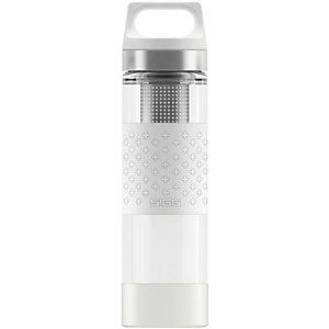 SIGG Hot & Cold Glass Trinkflasche weiß