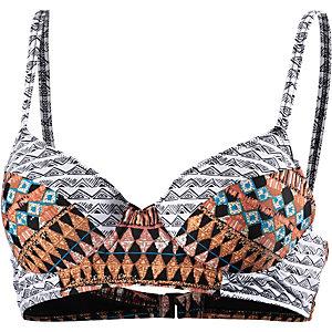 Volcom Tradewinds Bikini Oberteil Damen orange/schwarz/weiß
