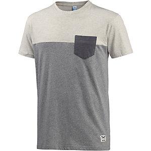 iriedaily Block Pocket T-Shirt Herren hellgrau/ecru