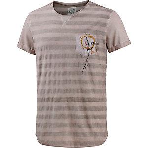 Khujo T-Shirt Herren flieder/grau