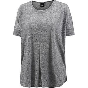 Ichi Oversize Shirt Damen graumelange