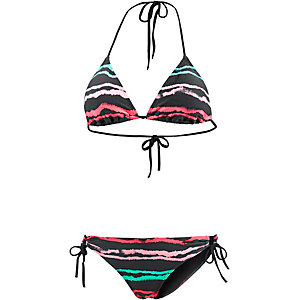 Protest Leia Triangelbikini Damen anthrazit/mint/koralle