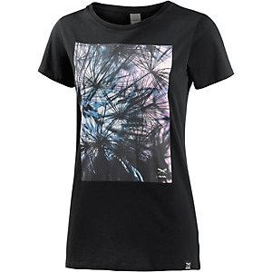 iriedaily T-Shirt Damen schwarz/bunt