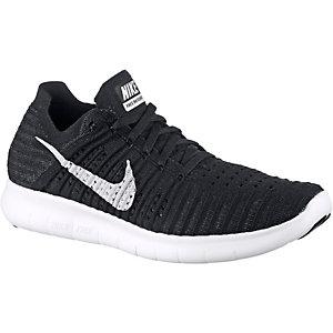 Nike Free Run Flyknit Laufschuhe Damen schwarz/weiß