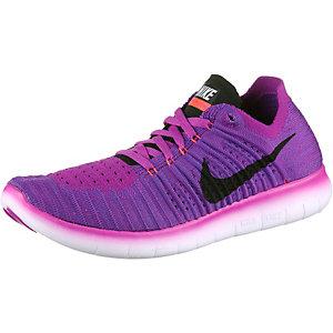 Nike Free Run Flyknit Laufschuhe Damen lila/orangerot