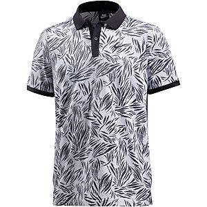 Nike Palm Poloshirt Herren schwarz/weiß