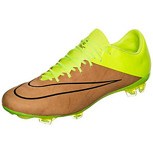 Nike Mercurial Vapor X Leather Fußballschuhe Herren braun / neongelb