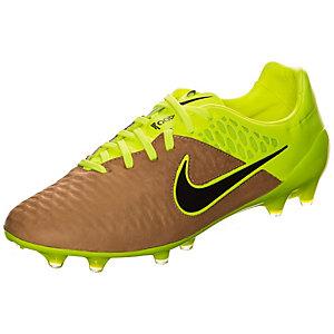 Nike Magista Opus Leather Fußballschuhe Herren braun / neongelb