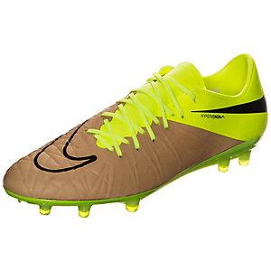Nike Hypervenom Phinish Leather Fußballschuhe Herren braun / neongelb