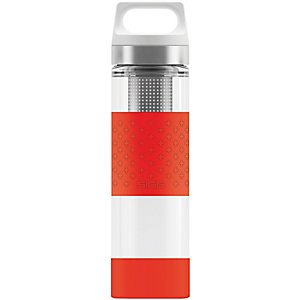 SIGG Hot & Cold Glass Trinkflasche rot