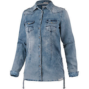 M.O.D Langarmhemd Damen washed denim