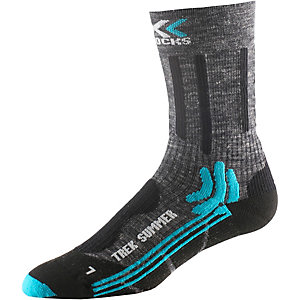 X-SOCKS Trekking Summer Wandersocken Damen anthrazit/schwarz