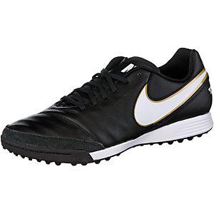 Nike TIEMPO GENIO II LEATHER TF Fußballschuhe Herren schwarz/weiß