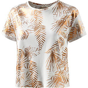 Lee Printshirt Damen weiß/gold