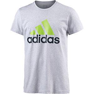 adidas Logo Funktionsshirt Herren hellgrau