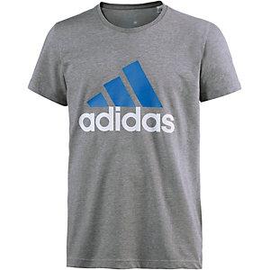 adidas Logo Funktionsshirt Herren grau/blau