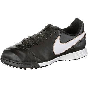 Nike TIEMPO LEGEND VI TF Fußballschuhe Kinder schwarz/weiß