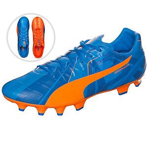 PUMA evoSPEED 4 Head To Head Fußballschuhe Herren blau / orange / weiß