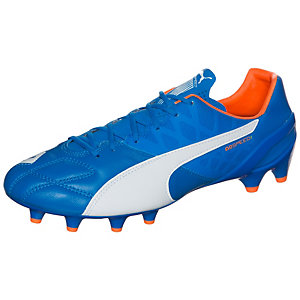 PUMA evoSPEED 1.4 Leather Fußballschuhe Herren blau / orange
