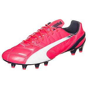 PUMA evoSPEED 1.3 Leather Fußballschuhe Herren pink / weiß