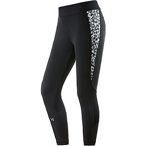 Under Armour Heatgear Tights Damen schwarz/weiß