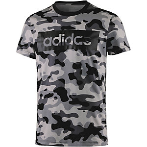 adidas Lin Printshirt Herren schwarz