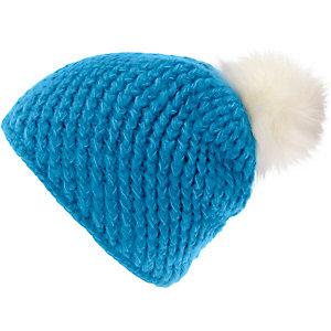 Maier Sports Pompon Bommelmütze Damen blau
