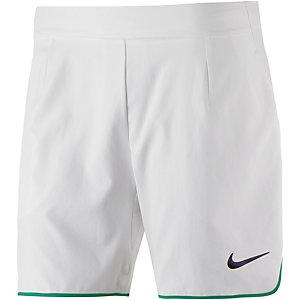 """Nike Gladiator Prem 7"""" Tennisshorts Herren weiß/grün"""