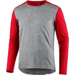 Icebreaker Funktionsshirt Herren grau/rot