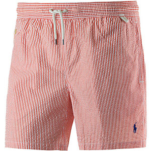 Polo Ralph Lauren Traveler Swim Badeshorts Herren orange/weiß