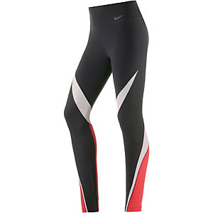 Nike Legendary Fabric Twist Tights Damen schwarz/weiß/rot