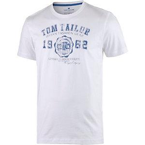 TOM TAILOR Printshirt Herren weiß