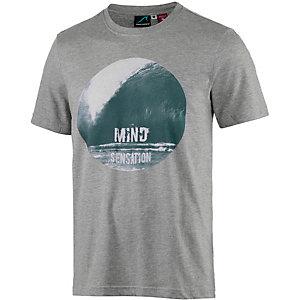 Maui Wowie Printshirt Herren hellgrau mélange