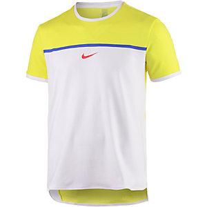Nike Challenger Premier Rafa Crew Funktionsshirt Herren gelb/weiß