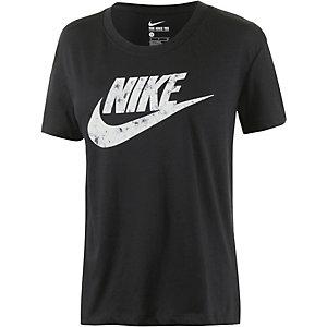 Nike Printshirt Damen schwarz/weiß