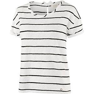 nümph T-Shirt Damen weiß