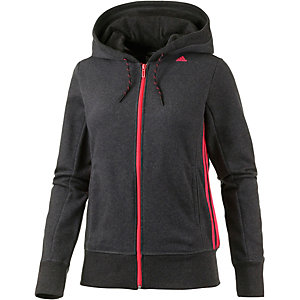 adidas sweatjacke damen anthrazit koralle xs im online. Black Bedroom Furniture Sets. Home Design Ideas
