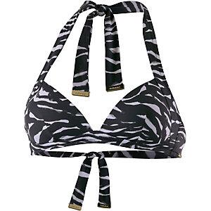 Calvin Klein Bikini Oberteil Damen schwarz/weiß