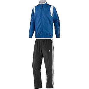 adidas TS Basic 3S Trainingsanzug Herren blau/schwarz