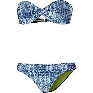 LingaDore Ingido Bandeau Bikini Damen jeans/allover